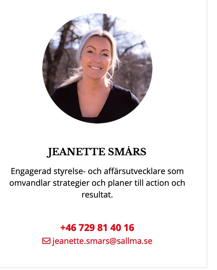 Jeanette Smårs